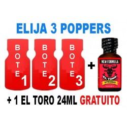 Elija 3 Grandes + 1 El Toro 24ml